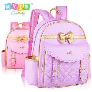Buy Hot estudantes nylon + couro pu mochila meninas mochila crianças é saco de Alta qualidade saco de viagem estudante mochila menina