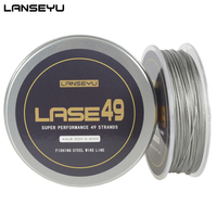 LANSEYU 50M 49 Strands Stainless Steel Wire Fishing line Wire Trace with Coating Wire Leader Coating Jigging Wire Lead Fish Line