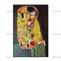 Classic Artist Gustav Klimt kiss Abstract Oil Painting on Canvas 100% Handmade Modern Art Wall Pictures For Living Room Cuadros