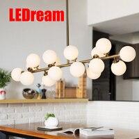 Vintage Loft Industrial Ceiling Lights Black Gold Bar Stair Dining Room Glass Shade Retro Lindsey Adelman
