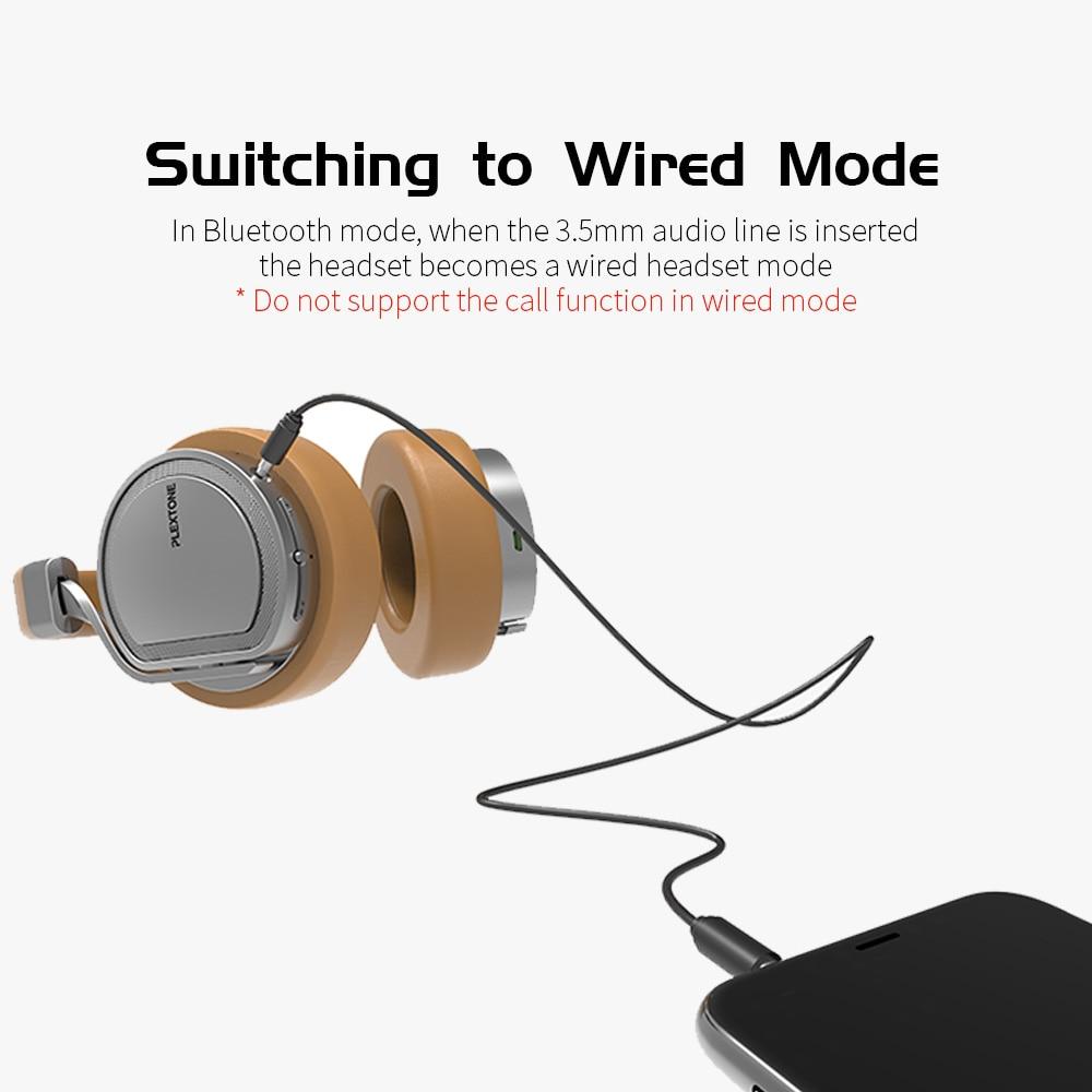 PLEXTONE BT270 Wireless HIFI Headphones Handsfree Bluetooth Headphone Bass  Stereo Headset with Mic for iPhone 6/7/8/X XiaoMi LG-in Bluetooth Earphones  ...