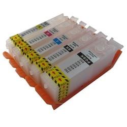 PGI-570 CLI570 pgi570bk refillable דיו מחסנית pernament שבב עבור canon PIXMA mg6850 mg6851 mg6852 mg5750 mg5751 mg5752 TS5050