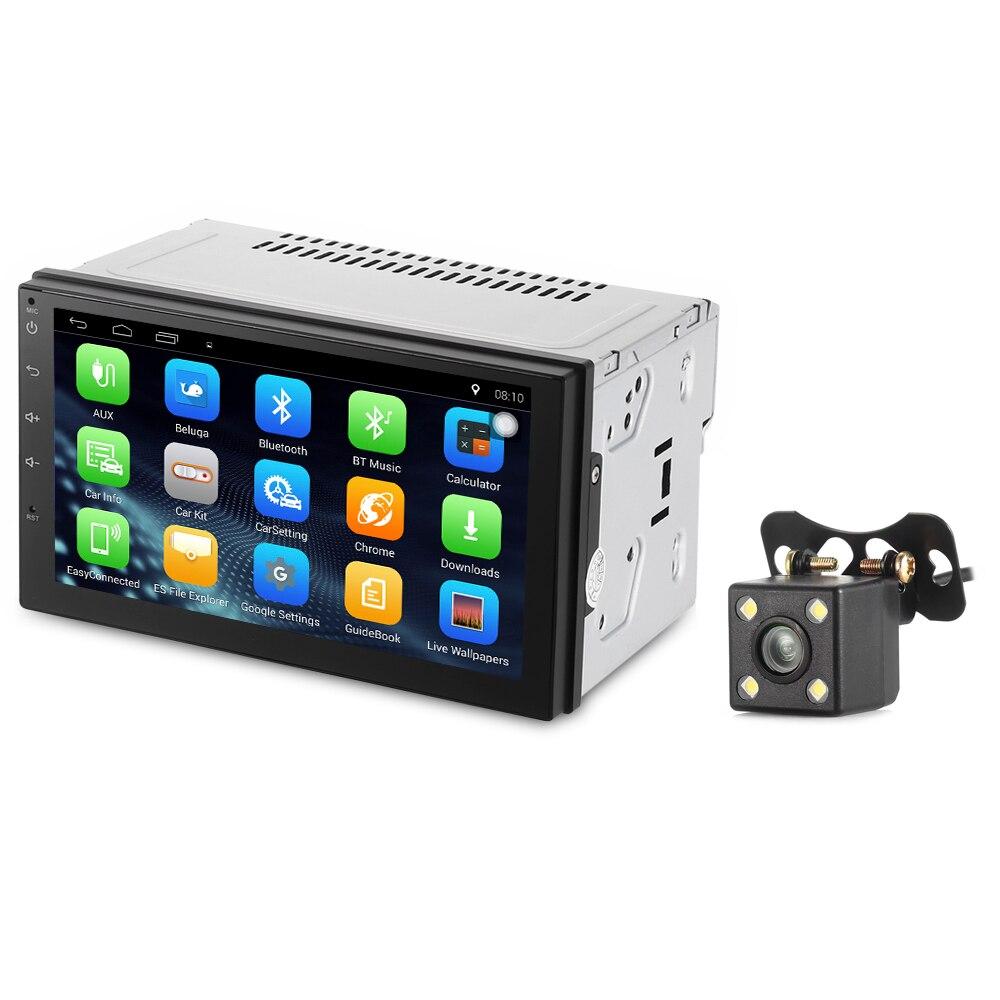 imágenes para Zeepin Android 6.0 2 Din Coche Reproductor de Radio de Navegación GPS Bluetooth Reproductor MP5 volante Del Coche Cámara de Visión Trasera Autoradio WiFi