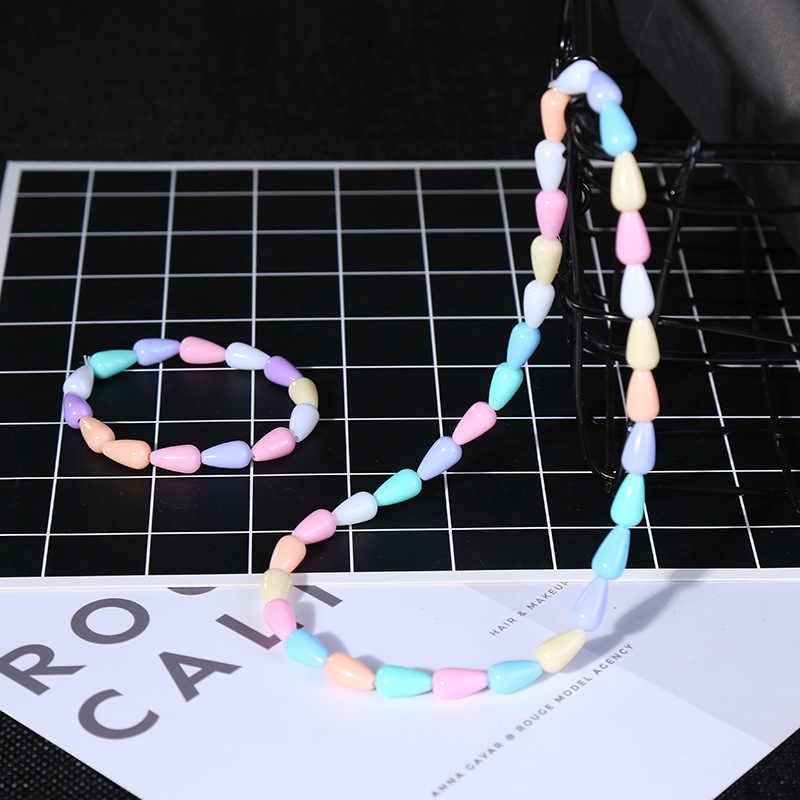 2 יח'\סט קיץ סגנון ילדי ילדים חמוד סוכריות צבעוני קריקטורה אקריליק שרשרת וצמיד לילדה תכשיטי מתנה סיטונאי