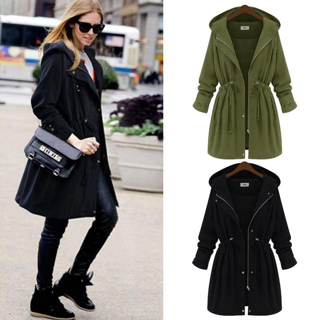 6423600cdf1 2018 New Winter Jacket Women Ladies Outwear Fashion Long Sleeve Loose  Casual Girls Jackets Women Hooded