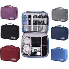 Travel Digital Accessories Storage Bag Portable USB Cable Charger Gadget Devices Organizer Travel Nylon Cable Case Bag все цены