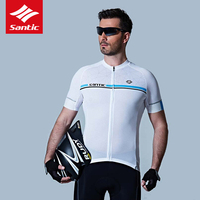 Santic Jersey Cycling Jersey Men Summer Breathable Motocross Jersey Cycling Clothing Downhill Jersey Maillot Ciclismo Shirt