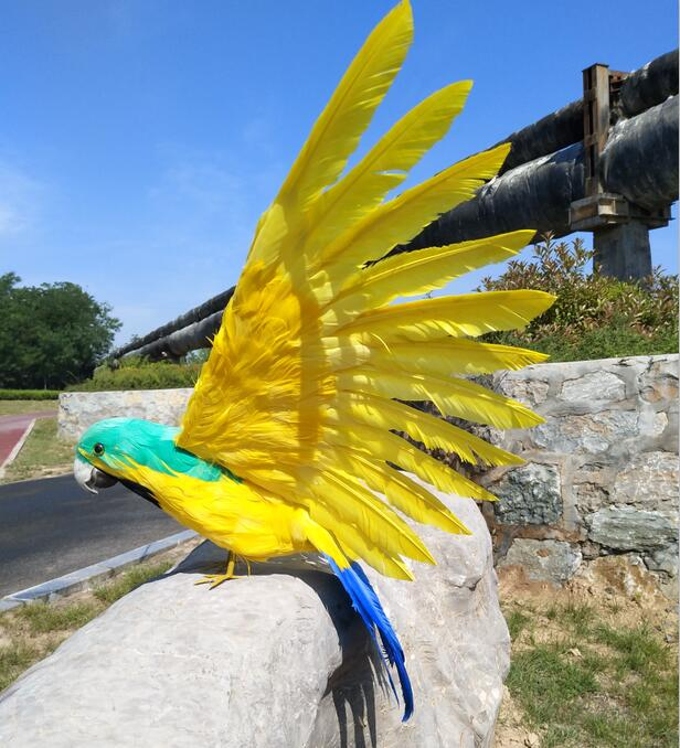 big new simulation yellow parrot model foam&furs wings bird doll gift about 45cm 1362 жидкость cloud parrot 2 0 yellow 120мл 0мг