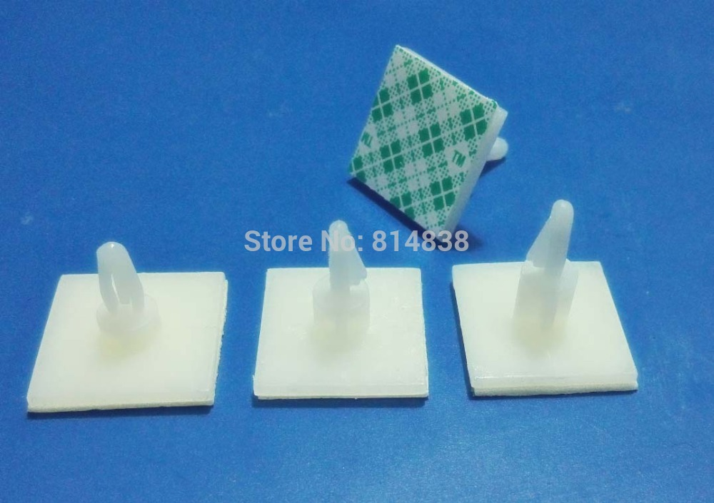 ASS 10 Plastic Parts Reverse Locking Circuit Board Support Standoff Spacer Adhesive Backed