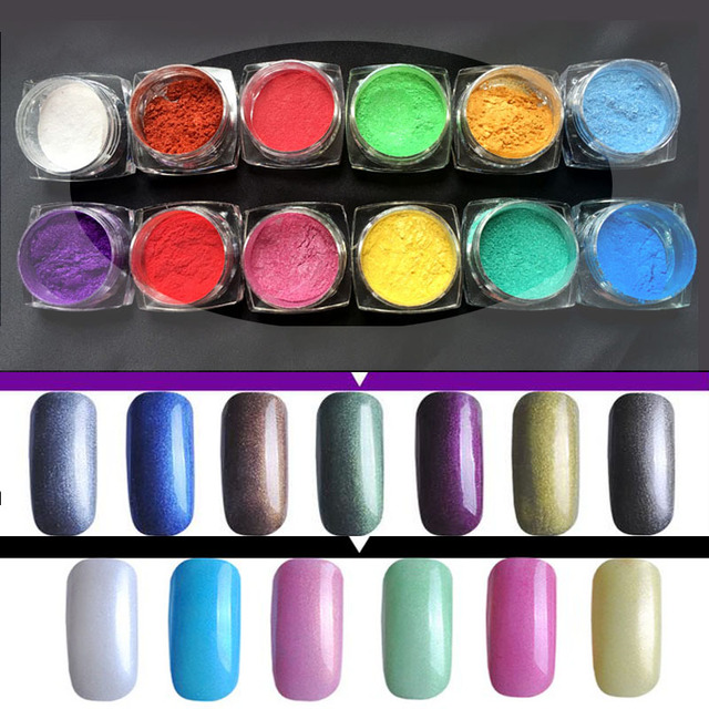 Beauty Nail Polish Powder Rhinestones Discoloration Silver Magic Mirror Nail Glitter Dust UV Gel