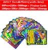 Hot Anime 60pcs 100pcs Sun Moon English Cards Figure GX EX Mega Cards Japan Charizard Cartes