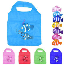 New 2019 Creative Environmental Storage Tropical Fish Foldable Handbag Shopping Bag Reusable Folding Grocery Nylon Eco Tote Bags
