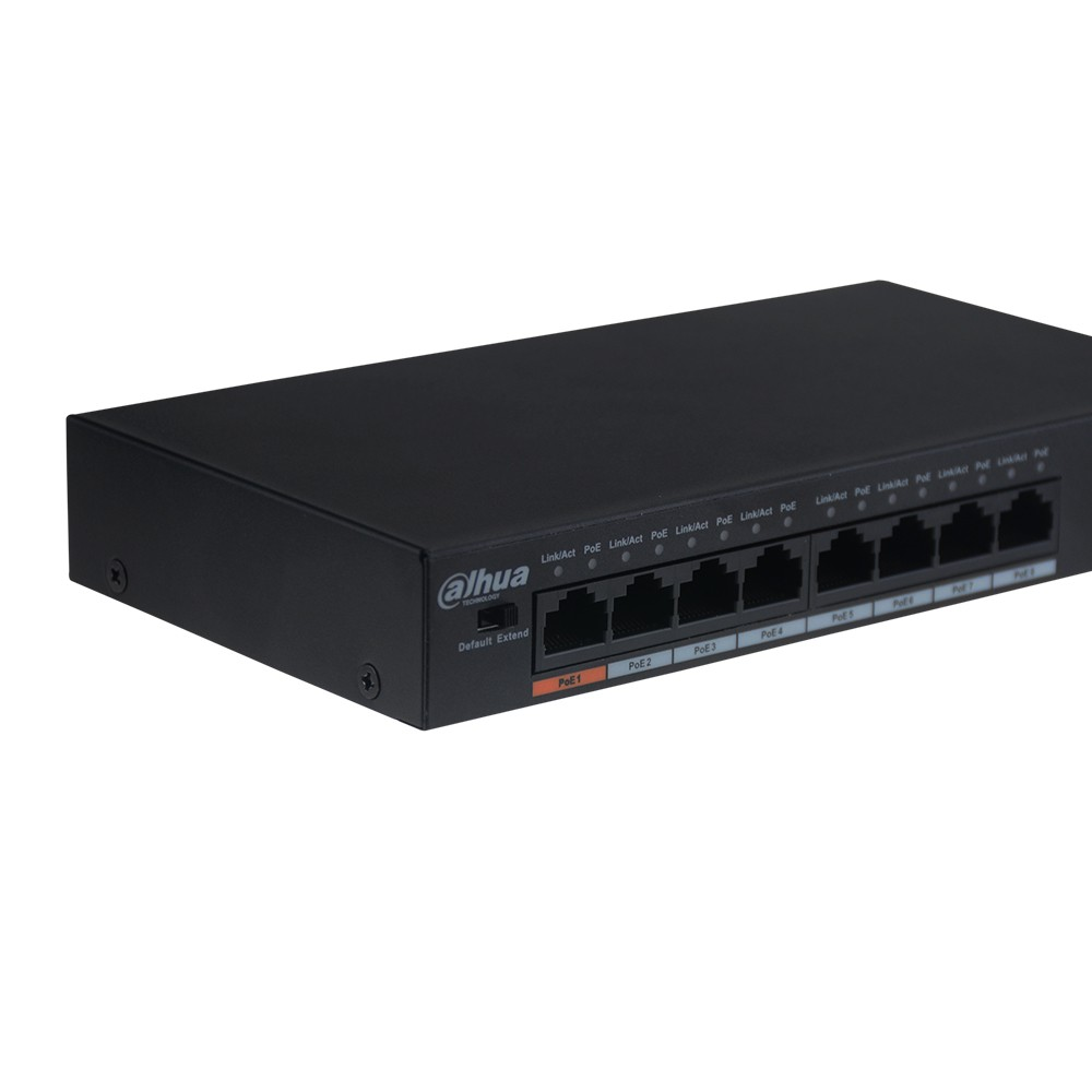 Image 3 - Origina DH PoE Switch DH S1500C 8ET1ET DPWR 8CH Ethernet Power Switch Support 802.3af 802.3at POE POE+ Hi PoE Power With Logo-in Transmission & Cables from Security & Protection