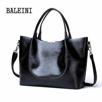 2019 Summer new style Women Bag Handbag Tote Over Shoulder Crossbody Leather Big Brand Black Brown Casual Designer Female Bolsas - DISCOUNT ITEM  57% OFF All Category