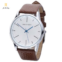 Brand TS Classic Fashion Japan Quartz Watch Men Anticlockwise Leather Strap Watch Large Dial Clock Waterproof