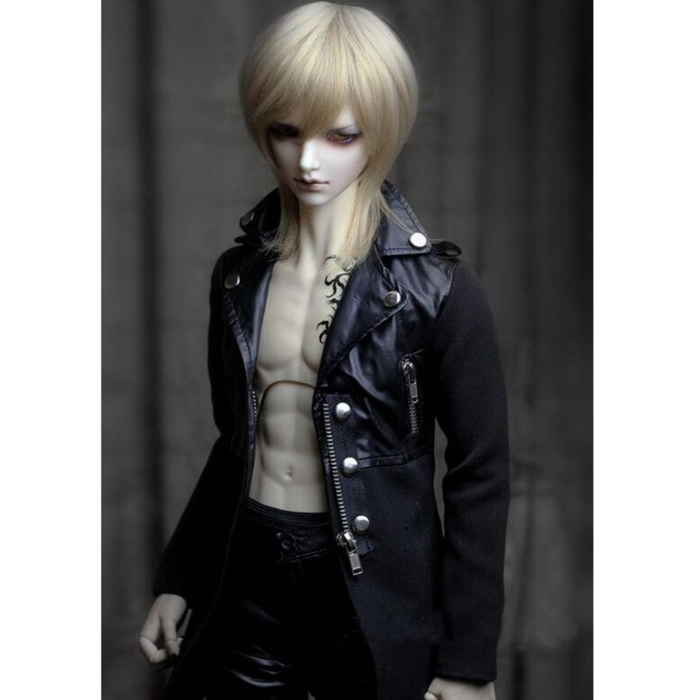 [wamami]770# Black Rivet Collar Fight Wool Twill Coat 1/3 SD DOD BJD Dollfie цена