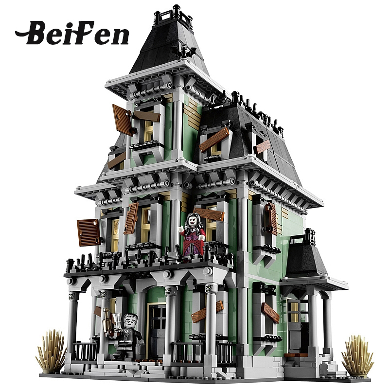 Bei Fem Movie 2141pcs Lepin 16007 Monster Fighter the Haunted House set 10228 Model Building Blocks Bricks Toy Children Gift 2141pcs the haunted house model set building kits block toy 16007 diy monster fighter educational blocks toys for children