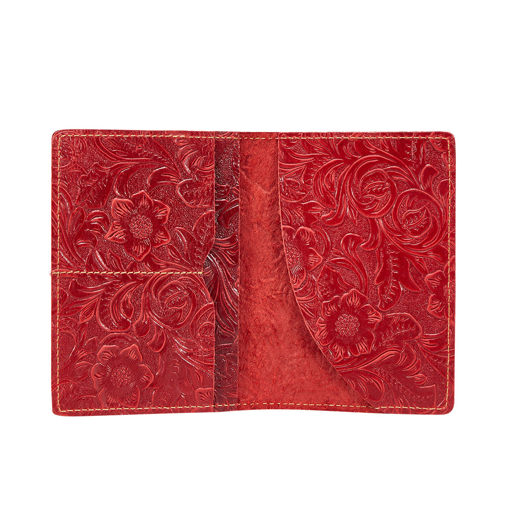 K018-Women Passport Cover Purse-Red-04(7)