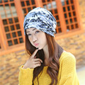 Hot Korean New Spring And winter Cotton Cap Women Outdoor Camouflage Turban Thin Wholesale Skullies   Beanies