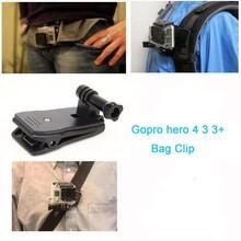 For GoPro xiao mi yi Sjcam Backpack Clip Clamp Mount For Go Pro 3 SJ4000/SJ5000/SJ6000/SJ7000 Action Camera Accessories