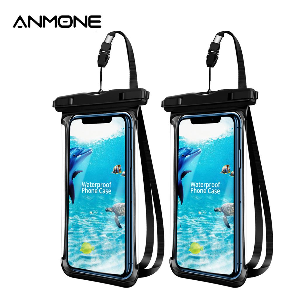ANMONE Waterproof Smartphone <font><b>Case</b></font> Full View Underwater Pouch Transparent Dry Bags Swimming Diving Hiking Water Proof Covers image