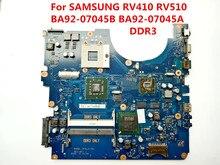 Dla samsung rv410 rv510 scala-15l ba92-07045b ba92-07045a ddr3 laptopa płyty głównej 100% testowane idealne pracy