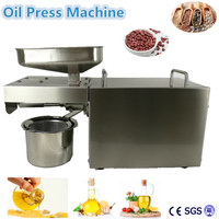 Free Ship Stainless Steel Oil Press Machine Electric Mini Digital Cold Oil Expeller Peanut Sunflower Seed
