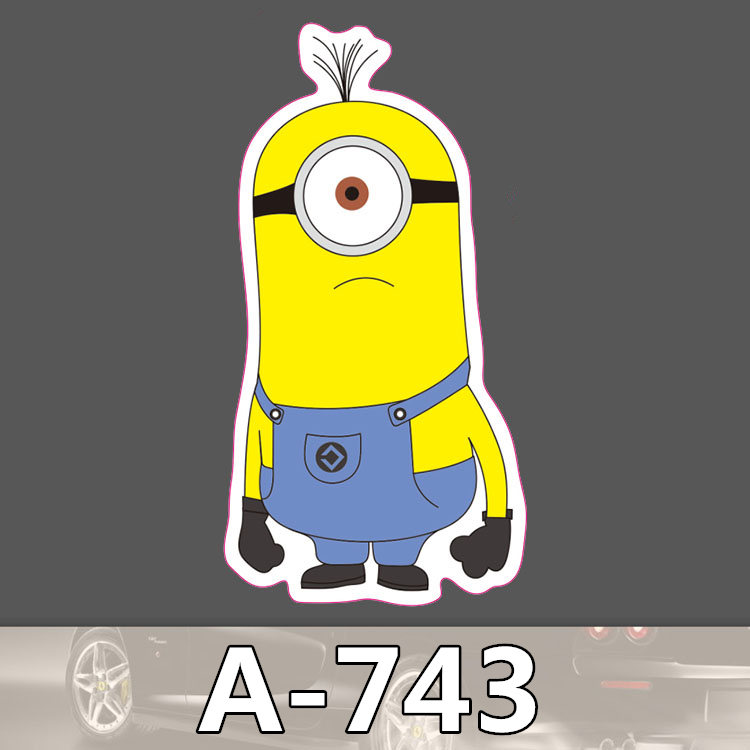 Bevle A 743 Minions Waterproof Cool DIY Stickers For Laptop font b Luggage b font Bike