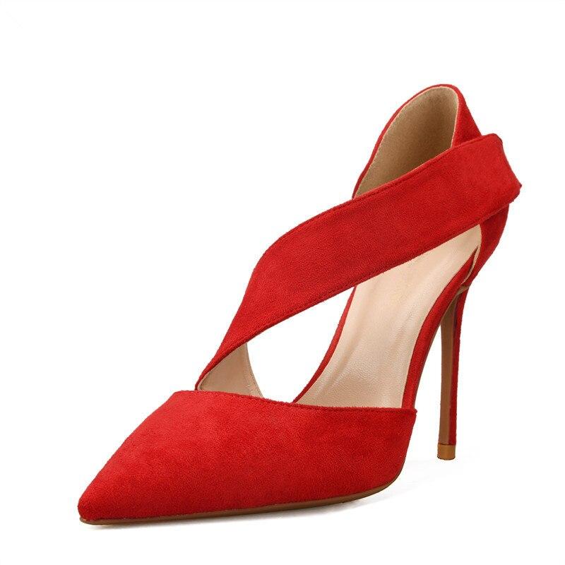 656d944f beige Beige De Hebilla Tacón rojo Boda A Mano 34 Zapatos Tacones Nueva Para  Mujer Fino Rojo Estrecha Bandada Moda Altos Punta ...
