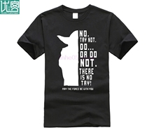 New Star Wars Master Yoda Men T Shirt Summer Short Sleeve Cotton Do Or Not Shirts Funny Tees Top Free Ship