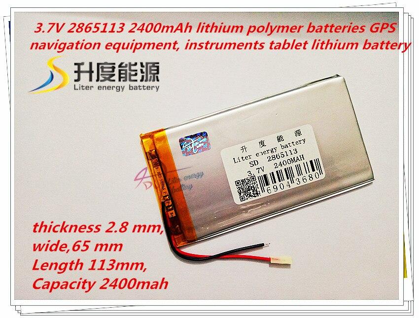 Liter Energie Batterie 2865113 3,7 V Lithium-polymer-batterie 3065110 2400 Mah Mp4 Mp5 Import Schlanke Flache Batterie Eine GroßE Auswahl An Farben Und Designs Unterhaltungselektronik Batterien