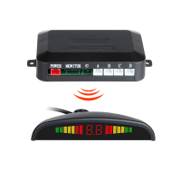 Wireless LED Display Parking Sensor Kit 4 Sensors Auto Car Reverse Assistance Backup Radar Monitor System