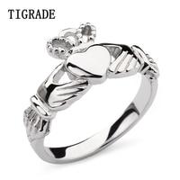 2mm Hand Hart Kroon Claddagh Zilveren Ring Vrouwen Hoge Gepolijst Wedding Band 925 Sterling Zilveren Sieraden Verlovingsringen Vrouwelijke
