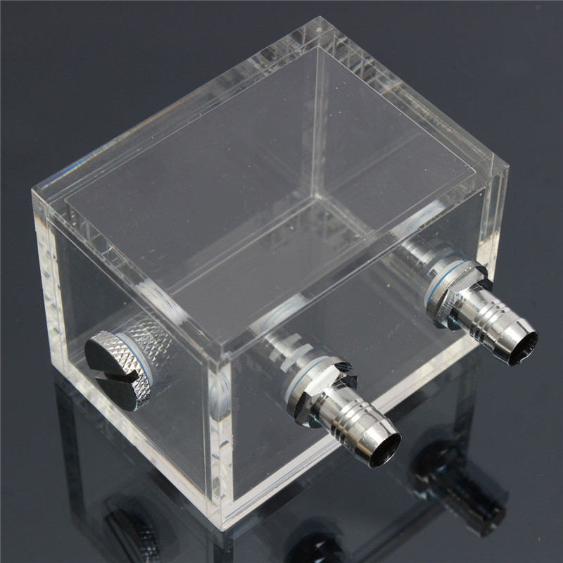 200ml Acrylic Water Tank Cooler Water Cooling Radiator Square Water Tank for Computer PC CPU Water Block Radiator bykski multicol water cooling block cpu radiator use for amd ryzen am3 am4 acrylic cooler block 0 5mm waterway matel bracket