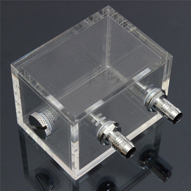 200ml Acrylic Water Tank Cooler Water Cooling Radiator Square Water Tank for Computer PC CPU Water Block Radiator