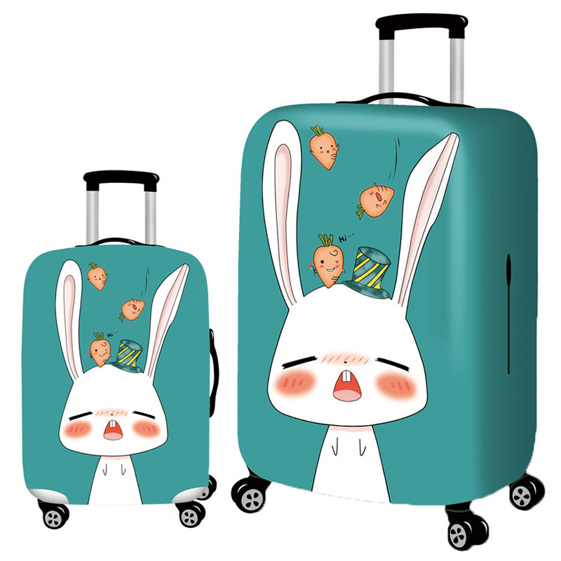 LXHYSJ Cute Rabbit Luggage Cover Elasticity Luggage Protective Covers Suitable For 18-32 Inches Suitcase Case Travel Accessories