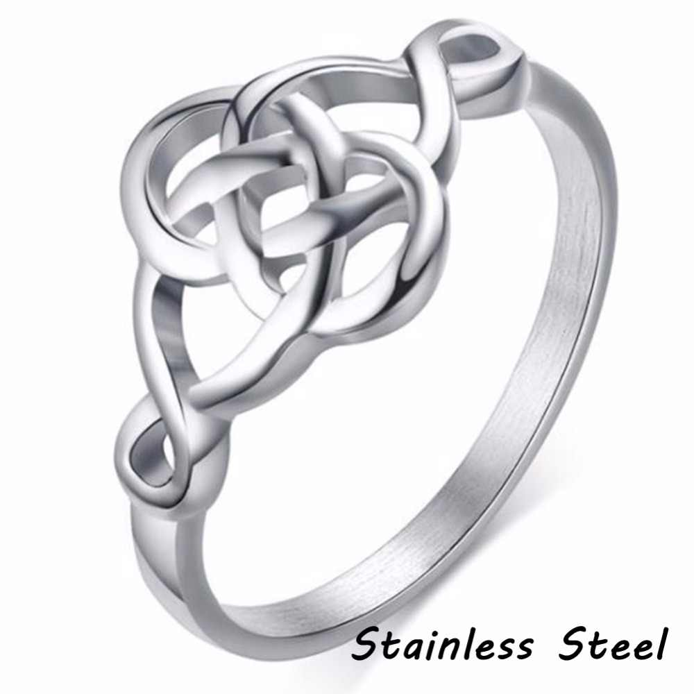 Stainless Steel Love Knot Wedding Engagement Promise Statement Ring Cocktail Party Mother's Day Grandma Wife Girlfriend Gifts