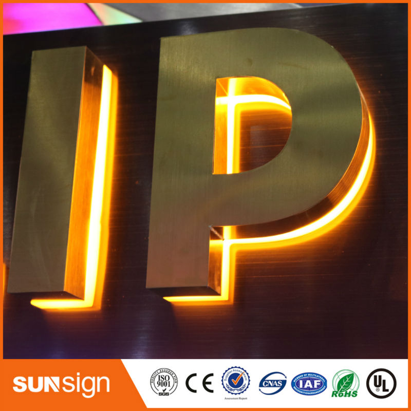 Custom Waterproof Backlit Stainless Steel 3d Letters Led