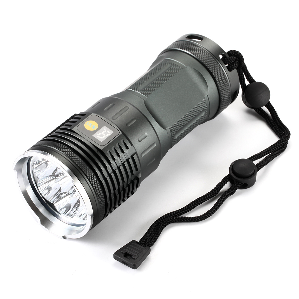 20000 Lumens Led Flashlight 8x XM-L L2 Super Bright LED Torch Waterproof Camping Torch & 4x18650 batteries + Charger