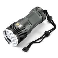 20000 Lumens Led Flashlight 8x XM L L2 Super Bright LED Torch Waterproof Camping Torch & 4x18650 batteries + Charger