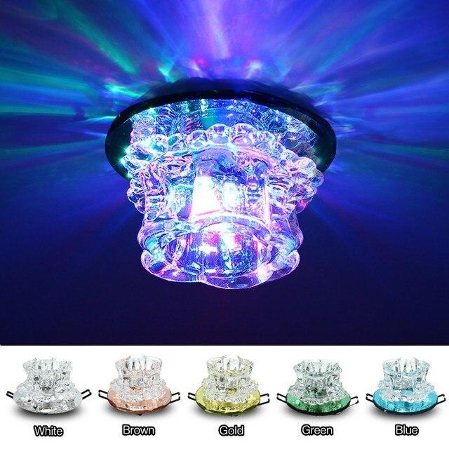 Multicolor Verlichting Kristal Oppervlak Inbouw LED Plafondlamp ...