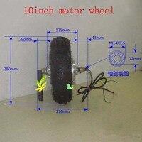 36 в 48 в 500 Вт 800 Вт регулятор для электровелосипеда двигатель 10 дюймов скутер двигатель для скутера/электрический велосипед/e велосипед двига
