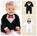 Summer Newborn Baby Romper Cotton Gentleman Infant Boy Clothes Tie Bow Toddler Kids One-Pieces Jumpsuit Kid Outfits vestido bebe