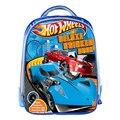 Hot wheels azul coches de la historieta de 13 pulgadas 3d impresión mochilas escolares para adolescentes niños niñas niños bolso de escuela