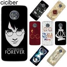 62266acbbfd ciciber For Motorola Moto C Z2 Z3 ONE P30 G4 G5 G5S G6 E4 E5 Play Plus  Power M X4 Soft TPU Phone Cases Harry Potter Coque Fundas