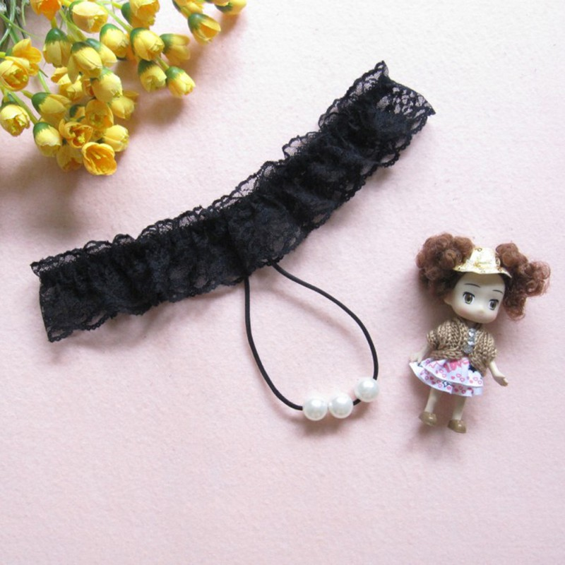 Sexy Women Sexy Lace Pearl Thongs G-string Panties Knickers Lingerie UnderwearWith Solid