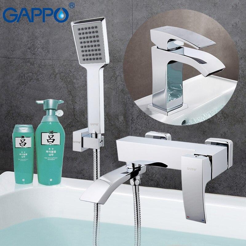 GAPPO Torneiras Da Banheira banheira banheira misturador torneira do chuveiro do banheiro torneira da bacia torneira da pia de água sistema de misturador do chuveiro