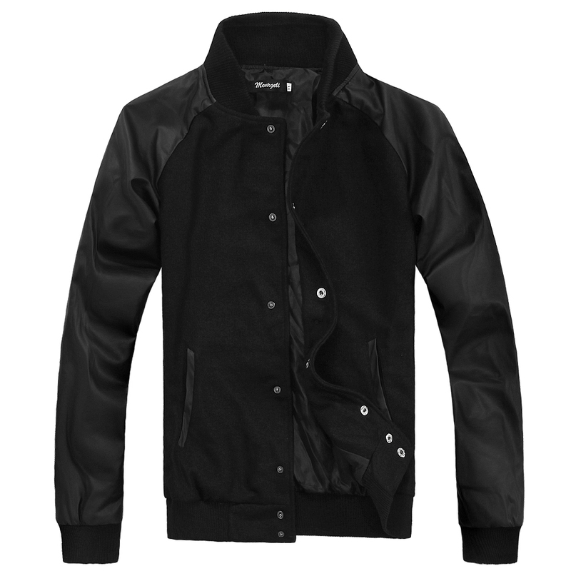 YuWaiJiaRen Mens Spliced Jacket Autumn Winter Stand Collar Casual Patchwork Trench Coat Outwear Overcoat Mens Bomber Jackets ...