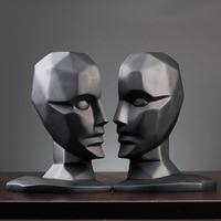 Creative Brain Hole Wide Open Statues Sculptures Resin Decor Crafts Gifts Figurines Desktop Home Decoration Accessories Modern
