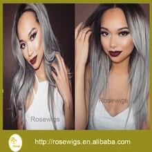 7A Brazilian Extension Virgin Hair Bundles 3Pcs /Lot Grey Human Hair Ombre Hair Weft Virgin